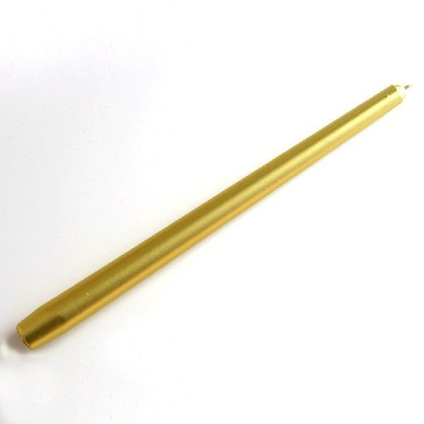 テーパーキャンドル12インチ ろうそく  ゴールド|brass-alivio