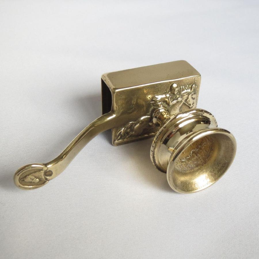燭台1灯ホース 真鍮製品金色 ブラス イタリア製アンティーク調雑貨キャンドルスタンド|brass-alivio|06