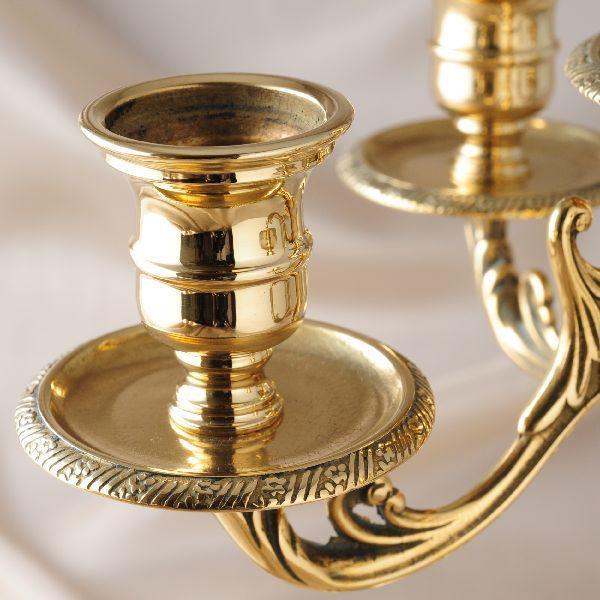 燭台5灯ST-M 真鍮製品金色 ブラス イタリア製アンティーク調雑貨キャンドルスタンド brass-alivio 02
