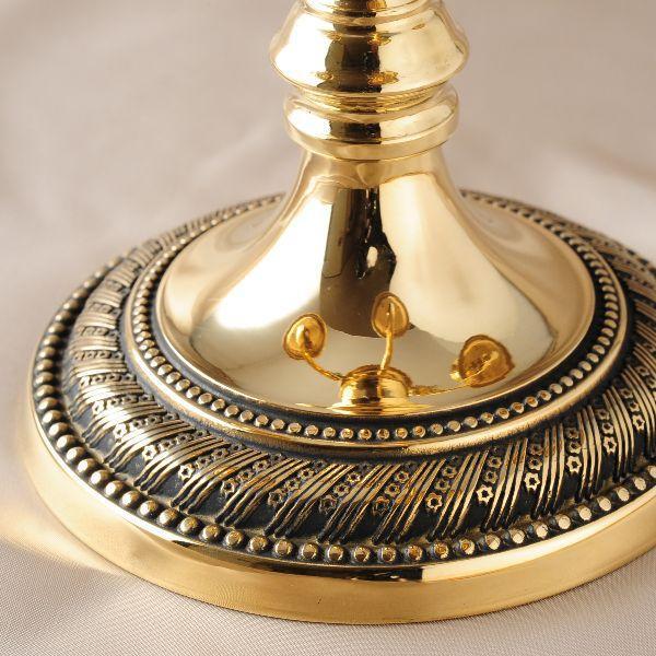 燭台5灯ST-M 真鍮製品金色 ブラス イタリア製アンティーク調雑貨キャンドルスタンド brass-alivio 03