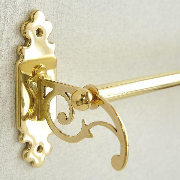 タオルハンガーC30 真鍮製品金色 ブラス イタリア製アンティーク調雑貨|brass-alivio|02