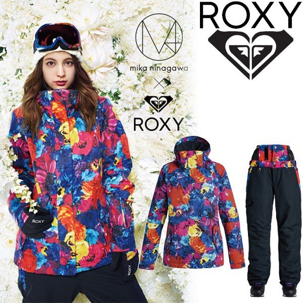 絶妙なデザイン ロキシー スノーウェア レディース 上下セット WILDLIFE jacket × SNOWHOLIC pant MIKA NINAGAWA × ROXY スノーボード ウエア 2017, メンズファッション通販 LEADMEN aba5bbb9