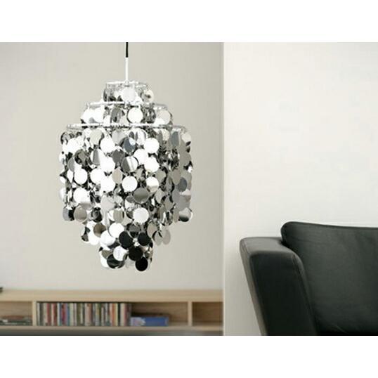 ファン メタル ヴェルナー パントン ヴァーパン デンマーク デザイナーズ照明 受注生産心地よい音色も楽しめる目にも耳にも優雅なライトインテリアリビング