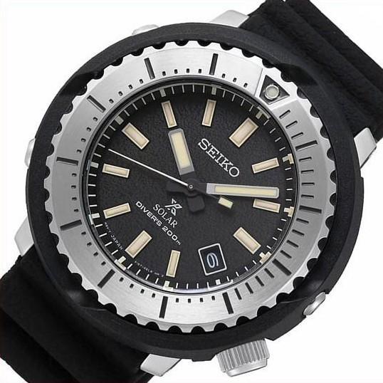 SEIKO セイコー ソーラー時計 PROSPEX プロスペックス ダイバーズウォッチ メンズ腕時計 ブラックラバーベルト 海外モデル SNE541P1|bright-bright