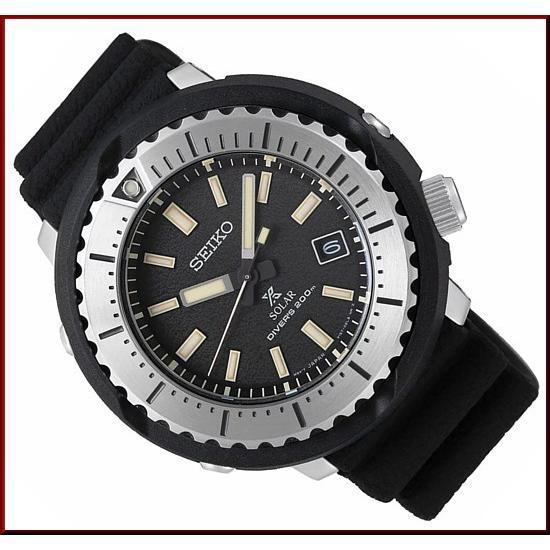 SEIKO セイコー ソーラー時計 PROSPEX プロスペックス ダイバーズウォッチ メンズ腕時計 ブラックラバーベルト 海外モデル SNE541P1|bright-bright|02