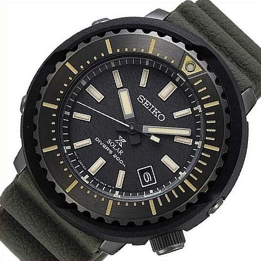 SEIKO セイコー ソーラー時計 PROSPEX プロスペックス ダイバーズウォッチ メンズ腕時計 グリーンラバーベルト 海外モデル SNE543P1|bright-bright