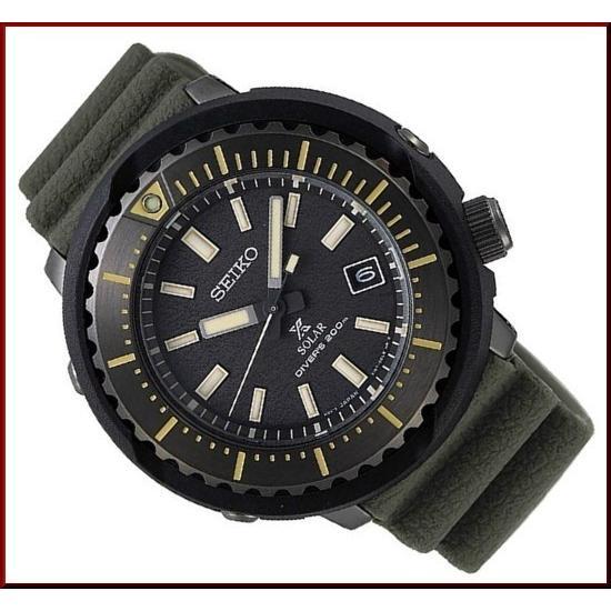 SEIKO セイコー ソーラー時計 PROSPEX プロスペックス ダイバーズウォッチ メンズ腕時計 グリーンラバーベルト 海外モデル SNE543P1|bright-bright|02