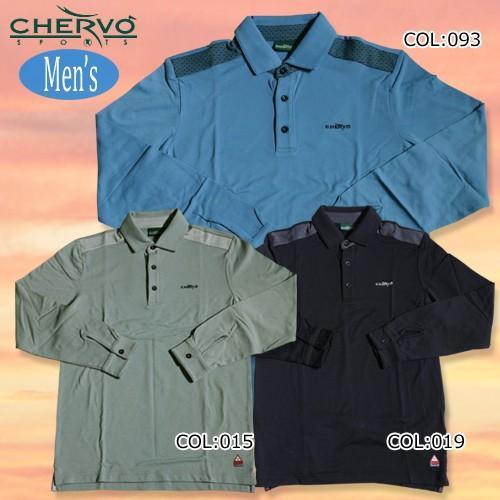 【シェルボ】【CHERVO】031-26010 メンズ 長袖ポロシャツ