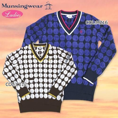 【マンシング】【Munsingwear】JWLK440 レディース 長袖Vネックセーター