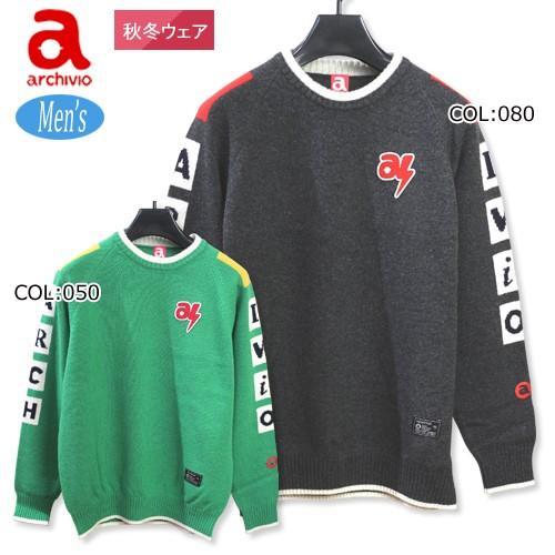 アルチビオ archivio A828909 メンズ セーター 丸首セーター