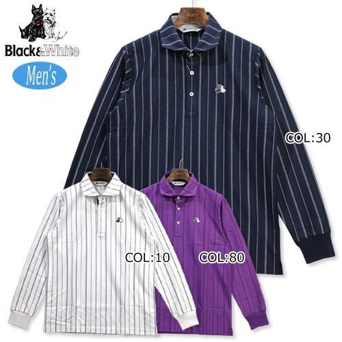 ブラック&ホワイト 黒&白い B9318GFJE メンズ シャツ 長袖 ウェア