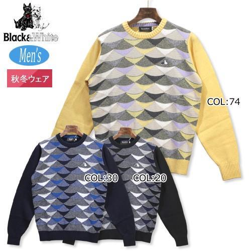 満点の ブラック&ホワイト Black&white B2218GFOC メンズ 長袖 カシミヤ セーター, フィットインナーBinKan 1af04bcb