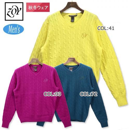 ゾーイ ZOY 071-484720 メンズ ウェア 長袖 カシミヤセーター ニットセーター