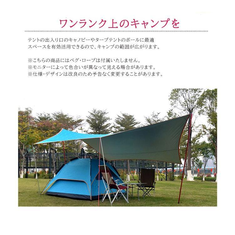 タープポール Soomloom 4節連結×2本 テント タープ ウイング タープテント用 ポール アルミニウム合金 直径28mm ビッグタープポール 分割式ポール|brightcosplay|09