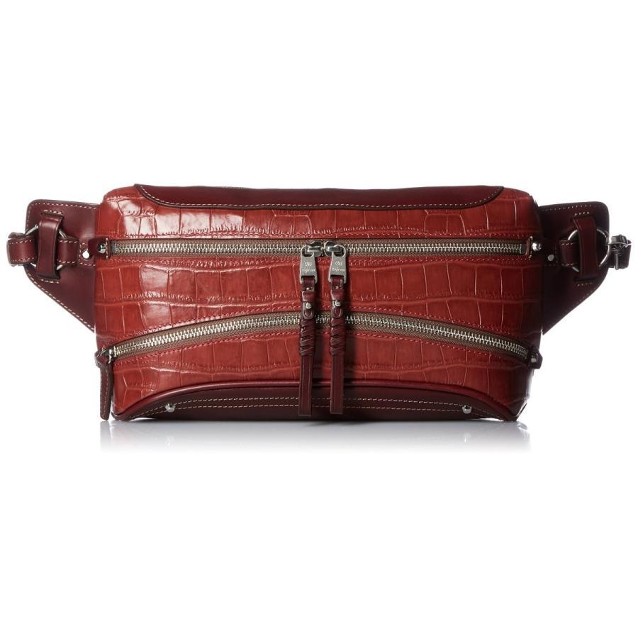 【着後レビューで 送料無料】 [キーファーノイ] ボディバッグ Amore 牛革クロコ型押し Red, モカレ クロコダイル 長財布 49b33cbd