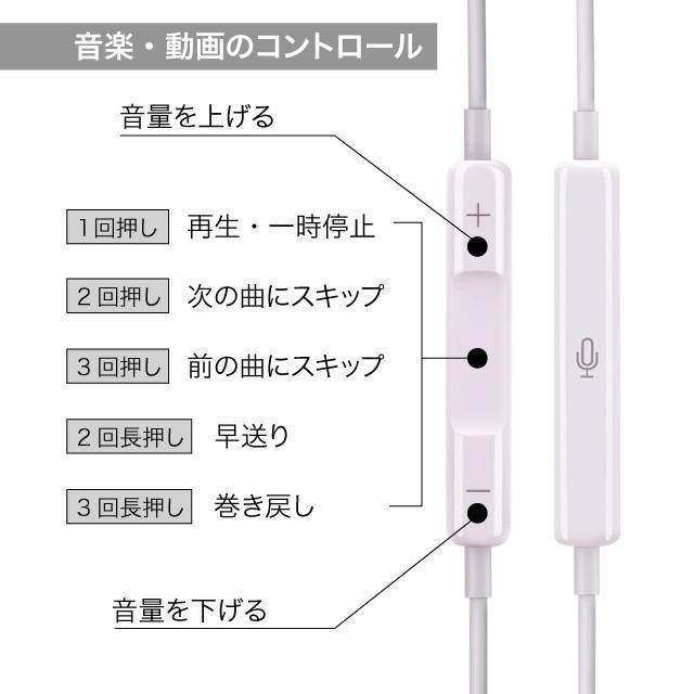 Apple iPhone 純正 イヤホン マイク Earpodsタイプ バルク品 わけあり品 純正同等コントロール可 3.5mmオーディオプラグ 送料無料|brillerjapan|05