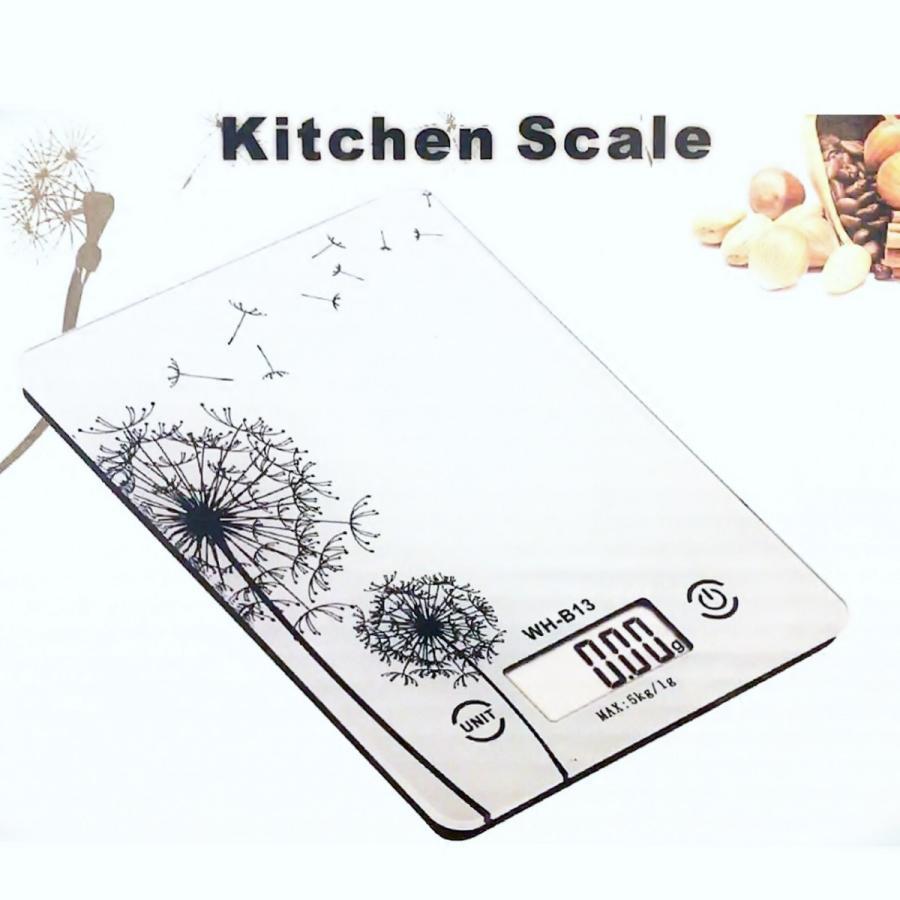 キッチンスケール はかり デジタルキッチンスケール 料理用 計量器 クッキングスケール ガラストップ 風袋機能付 計り フラット バックライト 送料無料|brilliantdays