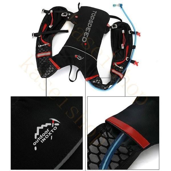 ランニングバッグ リュック 撥水加工 ハイドレーション サイクリングバッグ サイクルバッグ アウトドア 大容量 ジョギング 超軽量 ユニセックス バッグ|brilliantendless|13