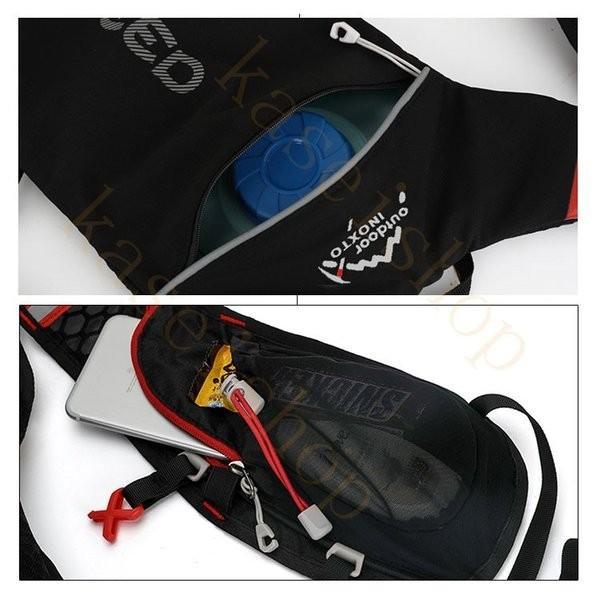 ランニングバッグ リュック 撥水加工 ハイドレーション サイクリングバッグ サイクルバッグ アウトドア 大容量 ジョギング 超軽量 ユニセックス バッグ|brilliantendless|14