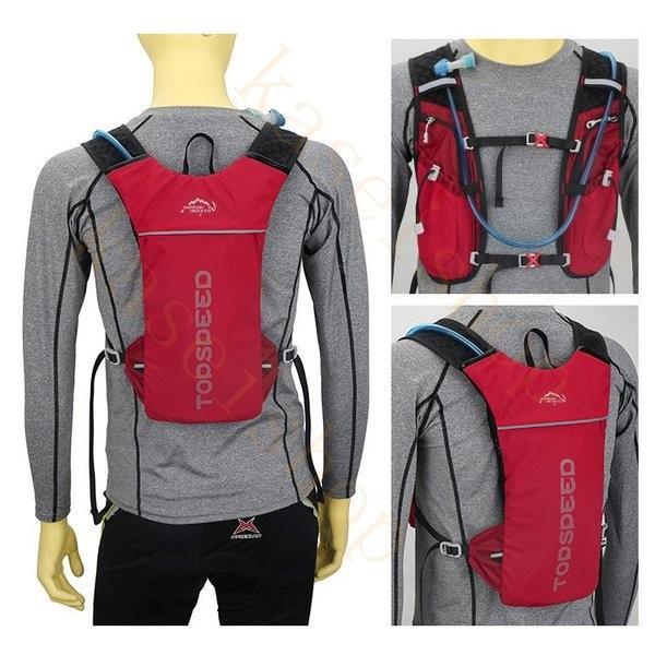 ランニングバッグ リュック 撥水加工 ハイドレーション サイクリングバッグ サイクルバッグ アウトドア 大容量 ジョギング 超軽量 ユニセックス バッグ|brilliantendless|09