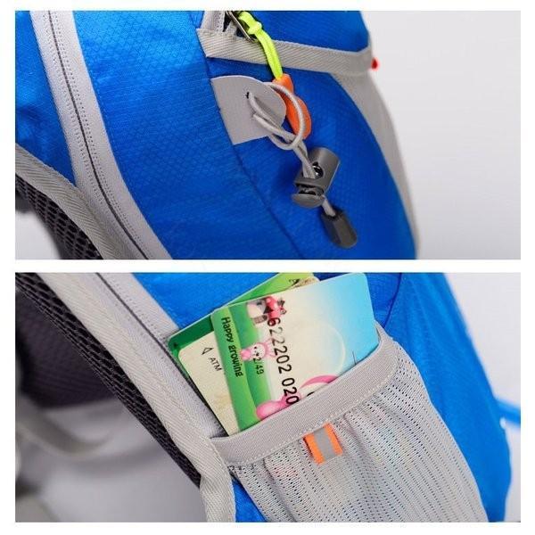 リュックサック メンズ レディース ランニングバッグ 軽量 アウトドア バッグ マラソン サイクリング 大容量 カジュアル 給水ポケット付き 撥水加工 旅行 登山 brilliantendless 14