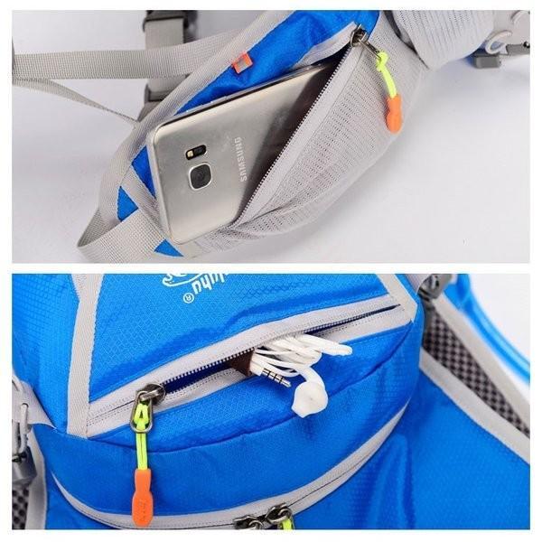 リュックサック メンズ レディース ランニングバッグ 軽量 アウトドア バッグ マラソン サイクリング 大容量 カジュアル 給水ポケット付き 撥水加工 旅行 登山 brilliantendless 15