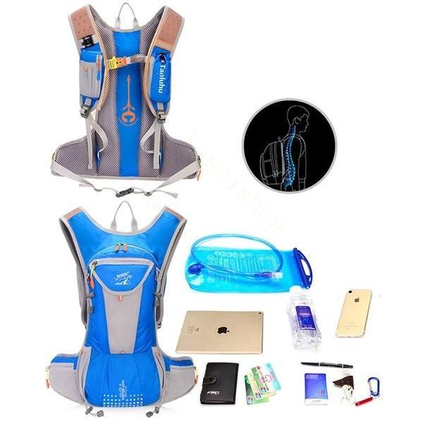 リュックサック メンズ レディース ランニングバッグ 軽量 アウトドア バッグ マラソン サイクリング 大容量 カジュアル 給水ポケット付き 撥水加工 旅行 登山 brilliantendless 04
