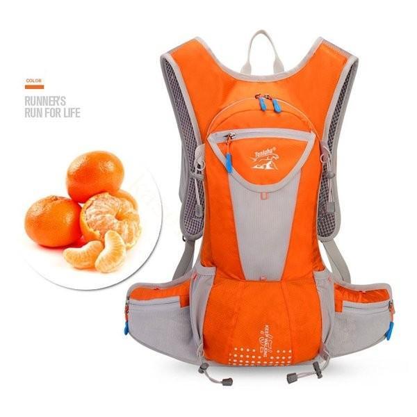 リュックサック メンズ レディース ランニングバッグ 軽量 アウトドア バッグ マラソン サイクリング 大容量 カジュアル 給水ポケット付き 撥水加工 旅行 登山 brilliantendless 08