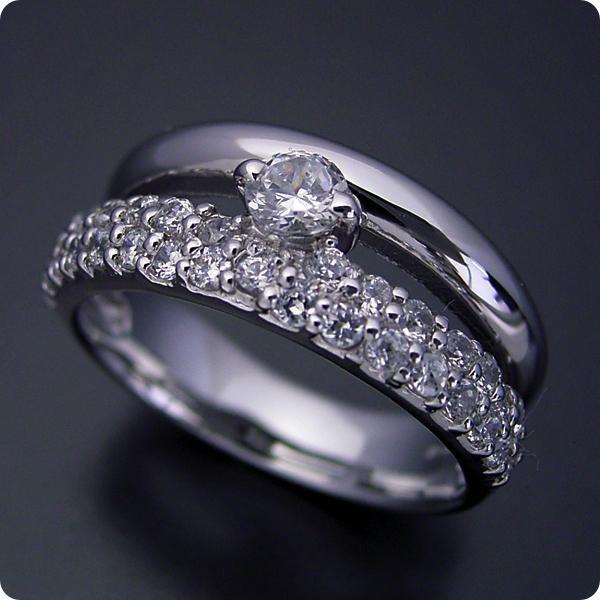 【メーカー包装済】 婚約指輪エンゲージリング0.3カラット一粒0.3ctダイヤモンドブライダルジュエリープラチナ結婚指輪マリッジリングパヴェセッティングと甲丸リングを, ALASKA MOUNTAIN STORE 168d5ca9