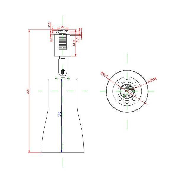 配線ダクトレール用 スポットライト ダクトレール スポットライト LED 電球 E26口金 電球別売り LED照明器具 E26RAIL-CKR 黒 E26RAIL-CWR 白 brite 05