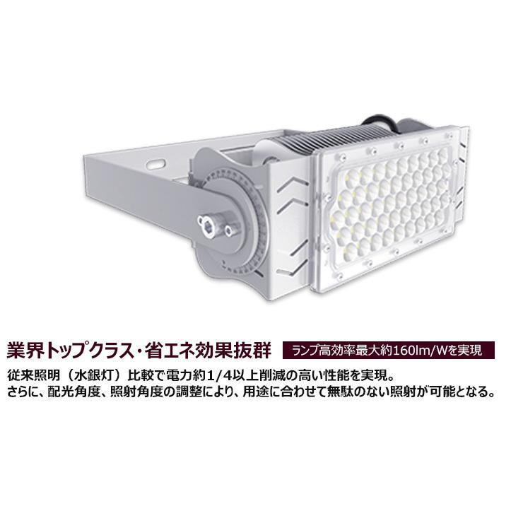 LED投光器 100W 投光器 LED 屋外 看板 駐車場 倉庫 工場 作業灯 防犯灯 LED高天井 照明器具 LEP100S ビームテック|brite|06