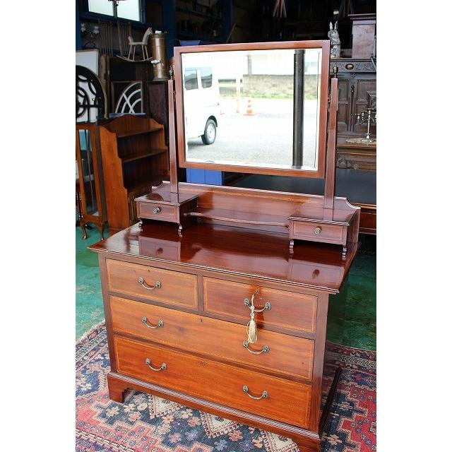 イギリスアンティーク家具 ドレッサー ドレッシングチェスト 鏡台 253a 英国製1910年頃 送料無料