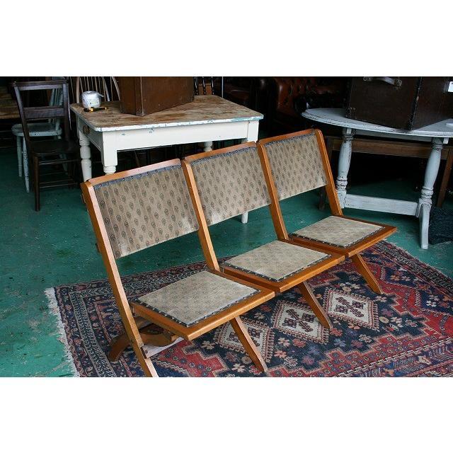 イギリスアンティーク家具 フォールディングチャーチ/チェアー264-2 英国製 1930年頃 送料無料
