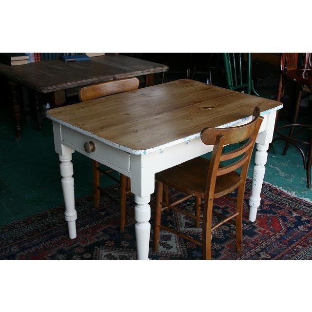 イギリスアンティーク家具 パインテーブル85 英国製 1880年頃 送料無料