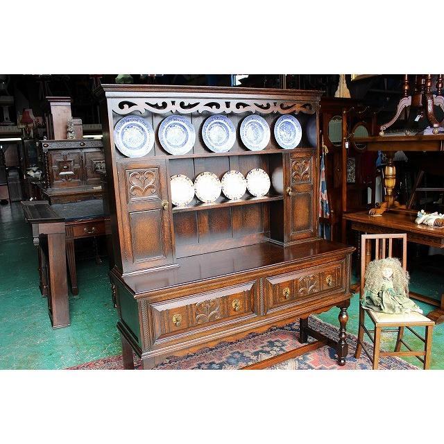 イギリスアンティーク家具 アンティークサイドボード カップボード ドレッサー n147 英国製1890年頃 送料無料