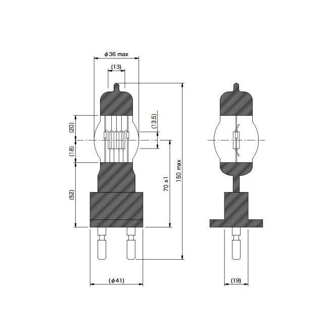 JP100V1000WB/MG22A 松村電機製 ハロゲンランプ G22口金 JP100V1000WB/MG22A 松村電機製 ハロゲンランプ G22口金 3100K(お取り寄せ品)