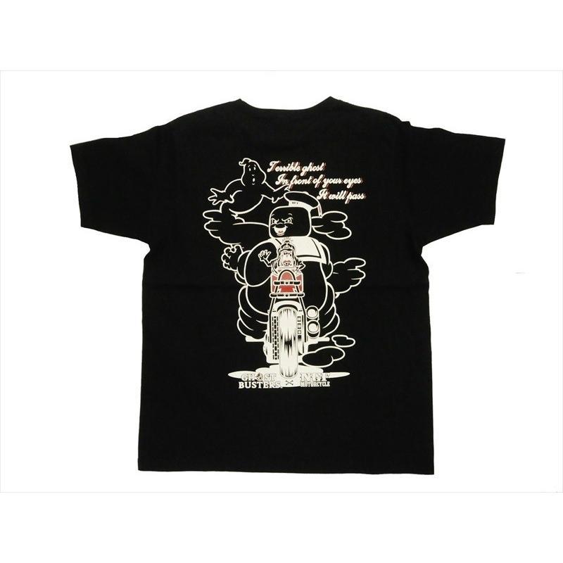 NAITIVE GANG FAMILY×ゴーストバスターズ Tシャツ NGF14-591 プリント「マシュマロマン」半袖Tシャツ ブラック bros-clothing