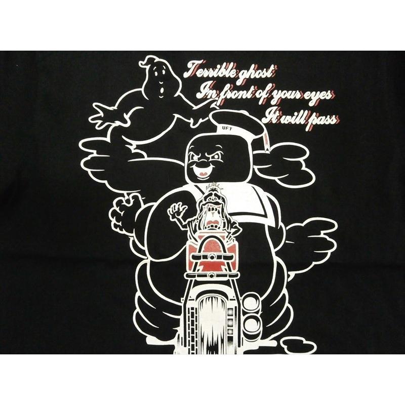 NAITIVE GANG FAMILY×ゴーストバスターズ Tシャツ NGF14-591 プリント「マシュマロマン」半袖Tシャツ ブラック bros-clothing 02