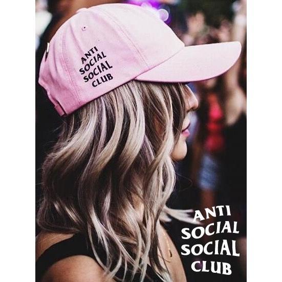 Anti Social Social Club キャップ ピンク おしゃれ アンチソーシャルソーシャルクラブ 帽子 WEIRD CAP PINK ストリート ORIGINAL LOGO HAT ORIGINAL-L-C-P bros