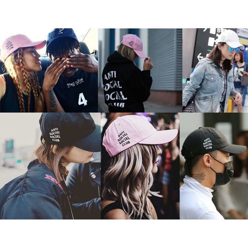 Anti Social Social Club キャップ ピンク おしゃれ アンチソーシャルソーシャルクラブ 帽子 WEIRD CAP PINK ストリート ORIGINAL LOGO HAT ORIGINAL-L-C-P bros 02