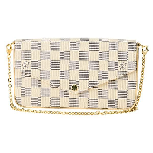 【送料無料】 ルイヴィトン(Louis Vuitton) ショルダーバッグ DAMIER AZUR ポシェット・フェリーチェ N63106 オフホワイト/ピンク, 靴の広場 K's Direct 043222f6