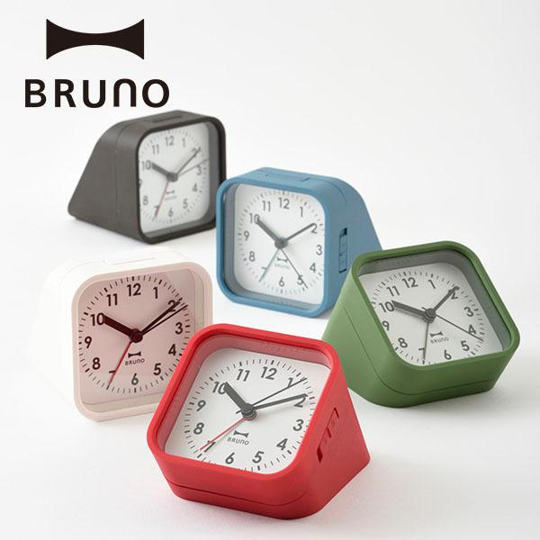 公式 BRUNO 記念日 ブルーノ メーカー公式 2アングルアラームクロック 置き時計 BCA016 シンプル おしゃれ デスク インテリア かわいい 旅行