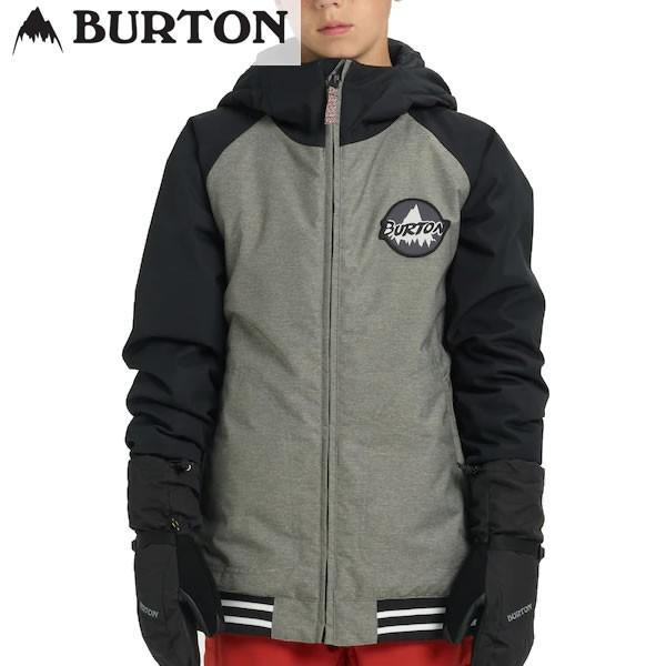 18-19子供用 BURTON ジャケット Boys' GameDay Jacket 13042104: Bog Heather True 黒 正規品/バートン/スノーボードウエア/ジュニア/キッズ/snow