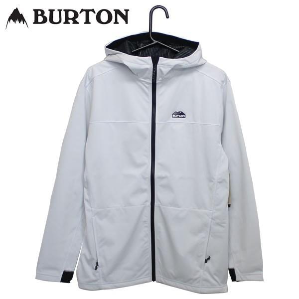 19SS BURTON パーカー Performance Crown Bonded Full-Zip 20828100: Stout 白い 正規品/バートン/メンズ/スノーボード/スノボ/snow
