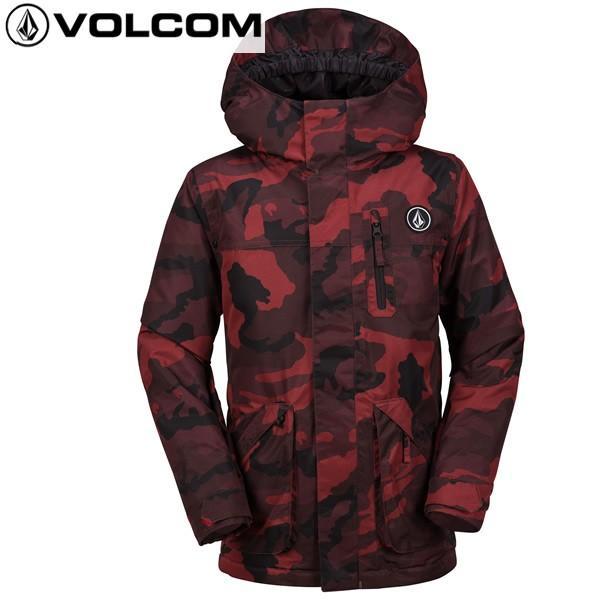 17-18 子供用 VOLCOM ジャケット VS INS JACKET i0451803: 赤 正規品/ボルコム/ジュニア/キッズ/スノーボードウエア/ウェア/snow/JR