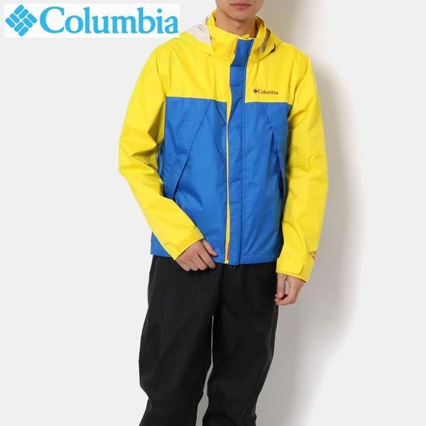 19FW COLUMBIA レインスーツ SIMPSON SANCTUARY RAINSUIT pm0124: Yellow Glo 正規品/メンズ/ウエア/コロンビア/雨合羽/カッパ/out