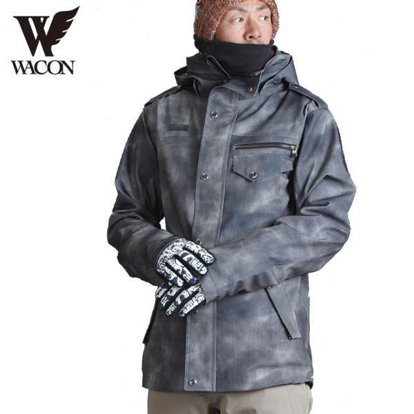 16-17 WACON ジャケット blast-j : D.黒 正規品/メンズ/ワコン/スノーボード/ウエア/ウェア/snow