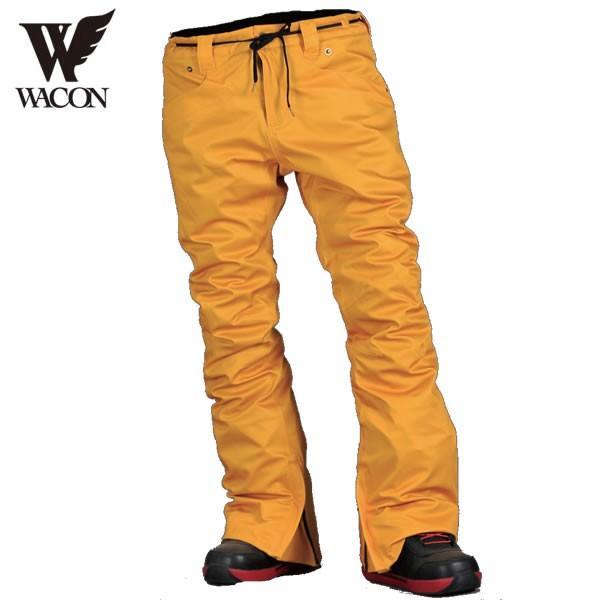 17-18 WACON パンツ EMOTION : MUSTARD 正規品/メンズ/ワコン/スノーボード/ウエア/ウェア/snow