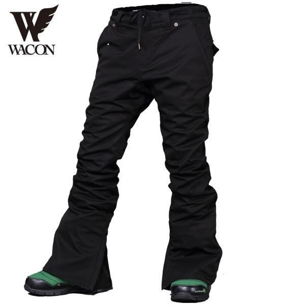 18-19 WACON パンツ JADE : 黒 正規品/メンズ/ワコン/スノーボード/ウエア/ウェア/snow/スノボ