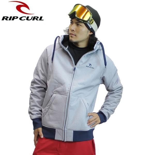 16-17 RIP CURL 撥水フリースジャケット ICON FLEECE w40-022: gry 正規品/リップカール/スノーボードウエア/ウェア/メンズ/w40022/snow